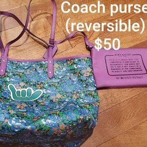 Reversible Coach purse